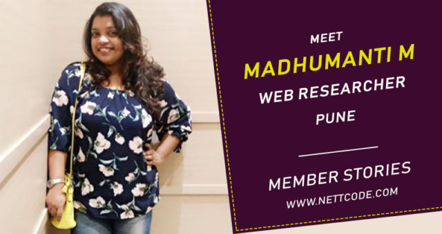 Meet Madhumanti Mitra a  Talented Web Researcher from Pune